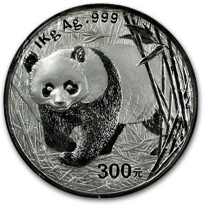 2002 China 1 kilo Silver Panda Proof (w/Box & COA)