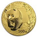 2002 China 1 oz Gold Panda BU (In Capsule)