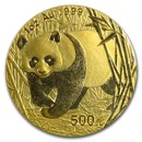 2002 China 1 oz Gold Panda BU (Sealed)