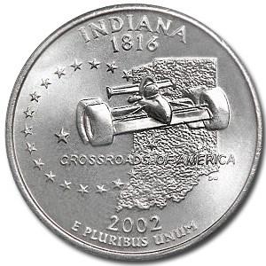 2002-D Indiana State Quarter BU