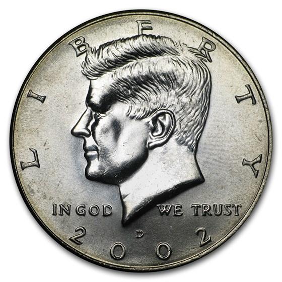 2002-D Kennedy Half Dollar BU