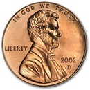 2002-D Lincoln Cent BU (Red)