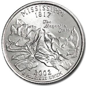 2002-D Mississippi State Quarter BU