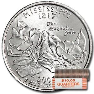 2002-D Mississippi Statehood Quarter 40-Coin Roll BU