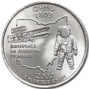2002-D Ohio State Quarter BU