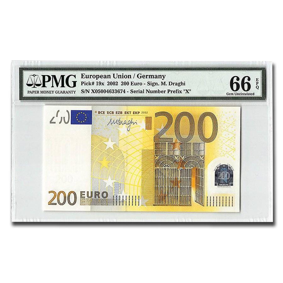 2002 Germany - European Union 200 Euros Gem Unc-66 EPQ PMG