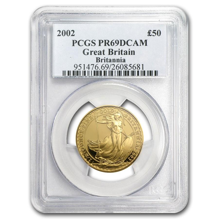 2002 Great Britain 1/2 oz Proof Gold Britannia PR-69 PCGS