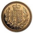2002 Great Britain Gold 1/2 Sovereign Jubilee BU