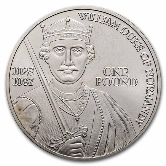 2002 Guernsey Silver Pound Duke of Normandy BU