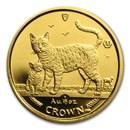 2002 Isle of Man 1/10 oz Gold Bengal Cat