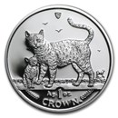 2002 Isle of Man 1 oz Silver Bengal Cats Proof