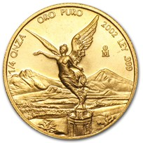 2002 Mexico 1/4 oz Gold Libertad BU
