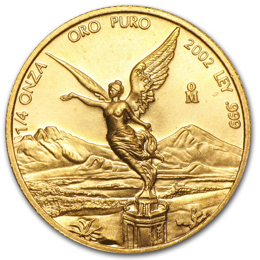 2002 Mexico 1/4 oz Gold Libertad BU