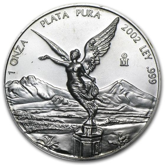 2002 Mexico 1 oz Silver Libertad BU