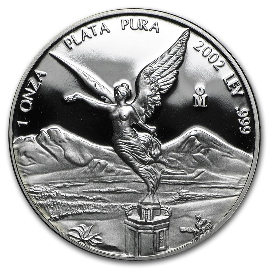 2002 Mexico 1 oz Silver Libertad Proof (In Capsule)