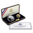 2002-P 2-Coin Commem Olympic Winter Games Proof Set (w/Box & COA)