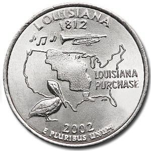 2002-P Louisiana State Quarter BU