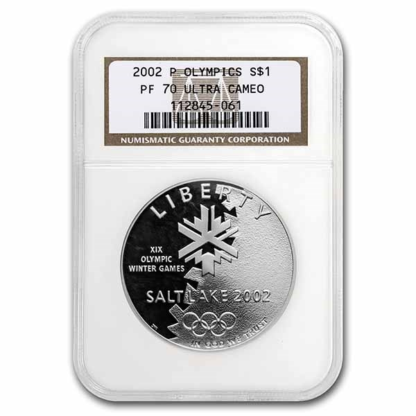 2002-P Olympic Winter Games $1 Silver Commem PF-70 NGC