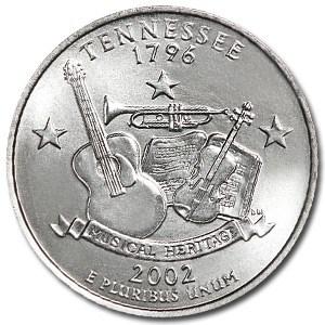 2002-P Tennessee State Quarter BU