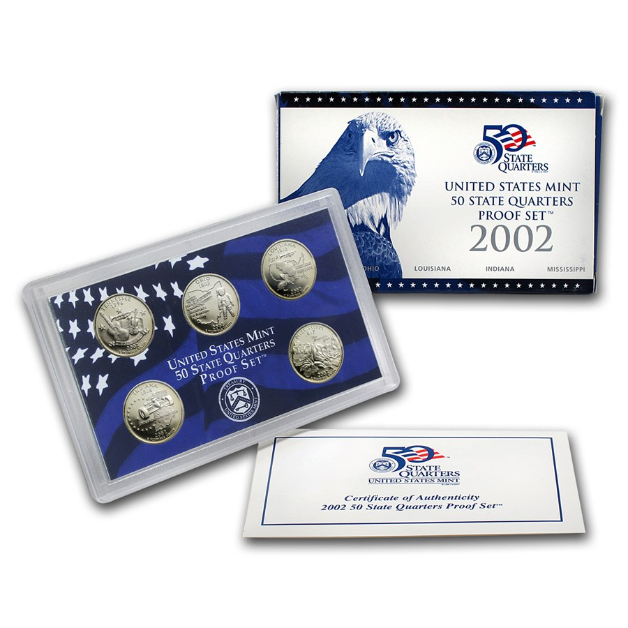 2002-S 50 State Quarters Proof Set