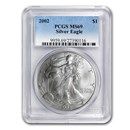 2002 Silver American Eagle MS-69 PCGS