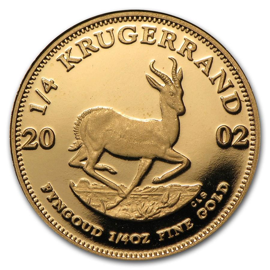 2002 South Africa 1/4 oz Proof Gold Krugerrand