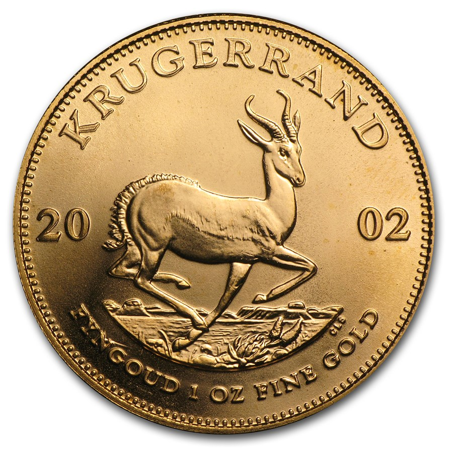 2002 South Africa 1 oz Gold Krugerrand BU