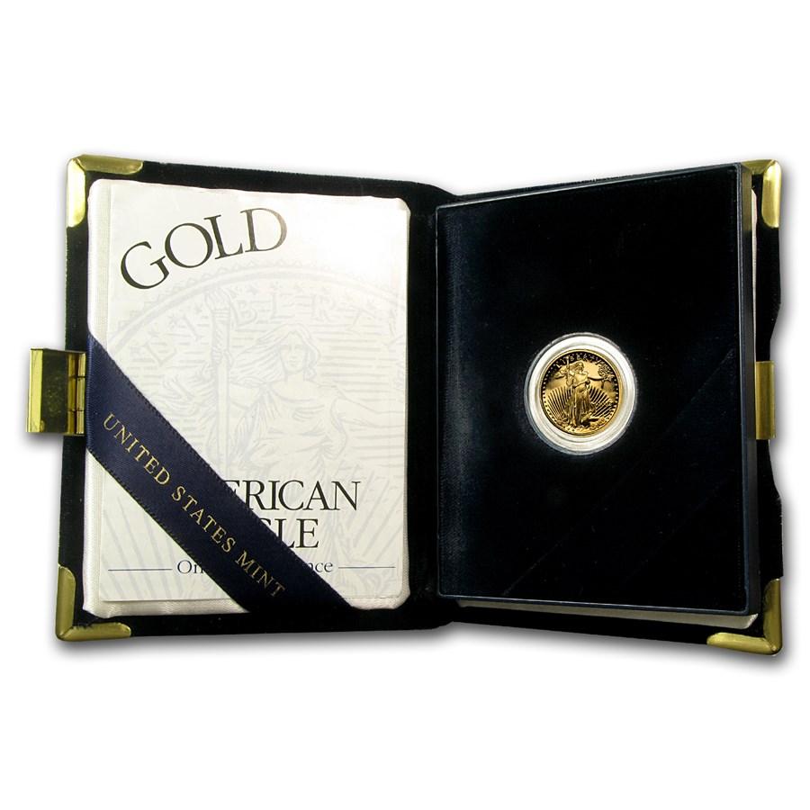 2002-W 1/10 oz Proof American Gold Eagle (w/Box & COA)