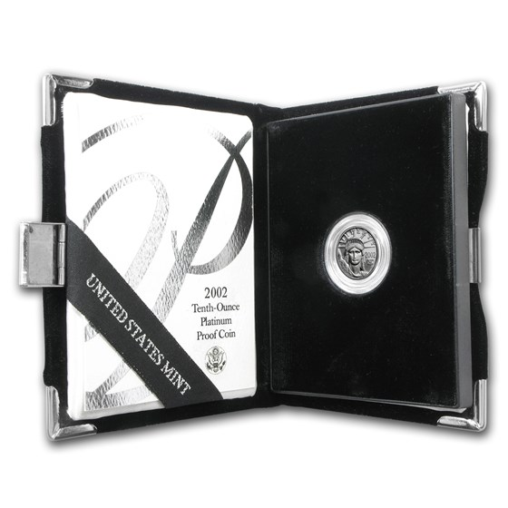 2002-W 1/10 oz Proof American Platinum Eagle (w/Box & COA)