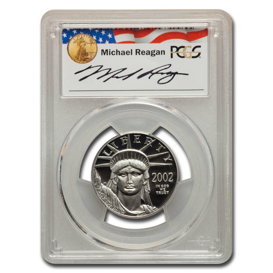 2002-W 1/2 oz PR American Platinum Eagle PR-70 PCGS (M. Reagan)