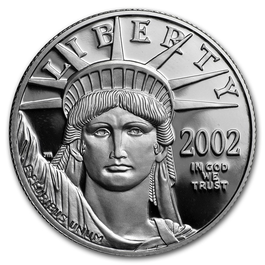 2002-W 1/2 oz Proof American Platinum Eagle (Capsule Only)