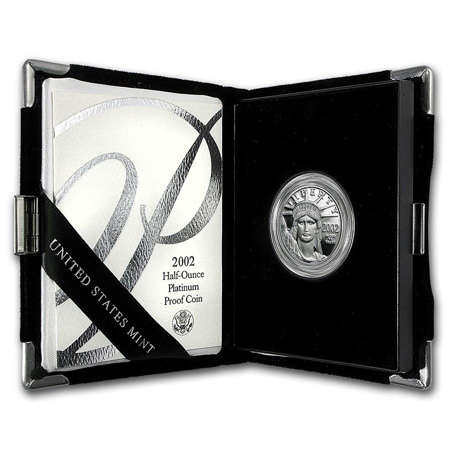 2002-W 1/2 oz Proof American Platinum Eagle (w/Box & COA)