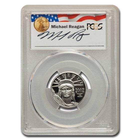 2002-W 1/4 oz PR American Platinum Eagle PR-70 PCGS (M. Reagan)