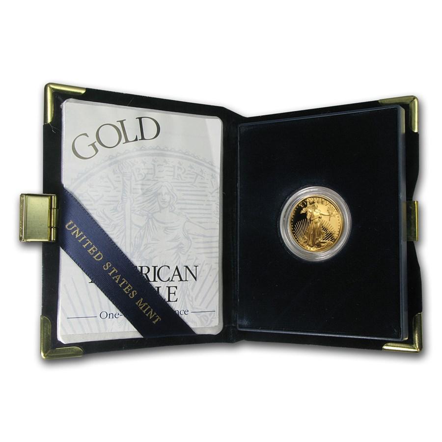 2002-W 1/4 oz Proof American Gold Eagle (w/Box & COA)