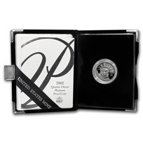 2002-W 1/4 oz Proof American Platinum Eagle (w/Box & COA)