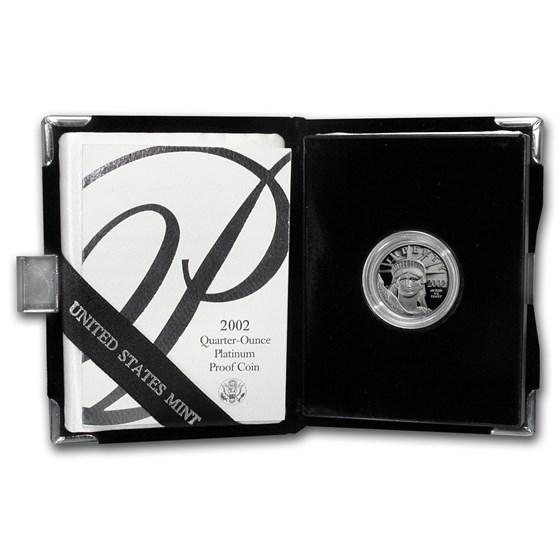 2002-W 1/4 oz Proof American Platinum Eagle (w/Box & COA)