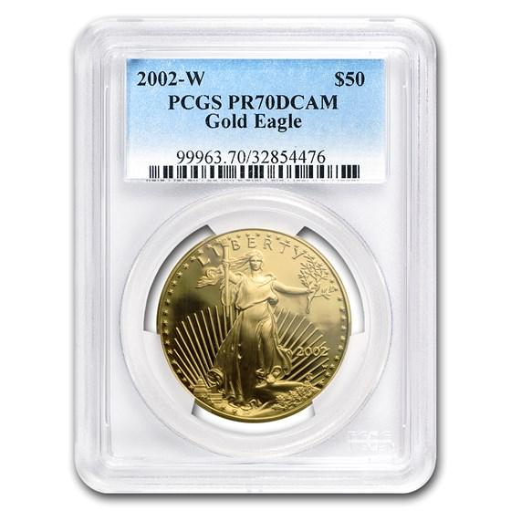 2002-W 1 oz Proof American Gold Eagle PR-70 PCGS