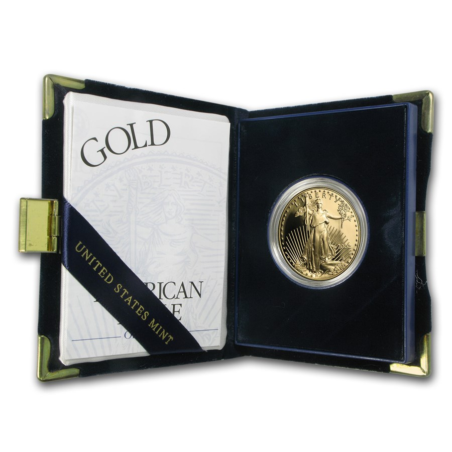 2002-W 1 oz Proof American Gold Eagle (w/Box & COA)