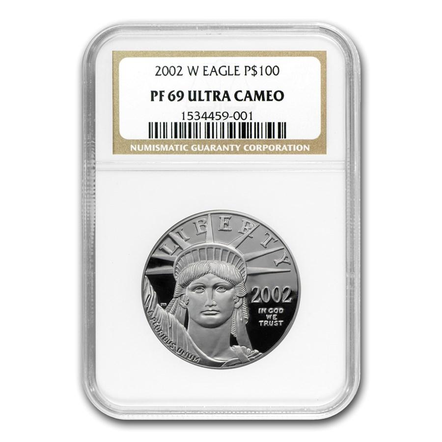 2002-W 1 oz Proof American Platinum Eagle PF-69 NGC