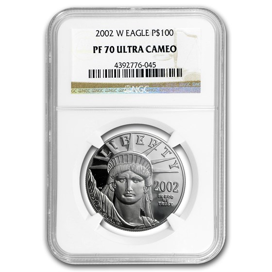 2002-W 1 oz Proof American Platinum Eagle PF-70 UCAM NGC