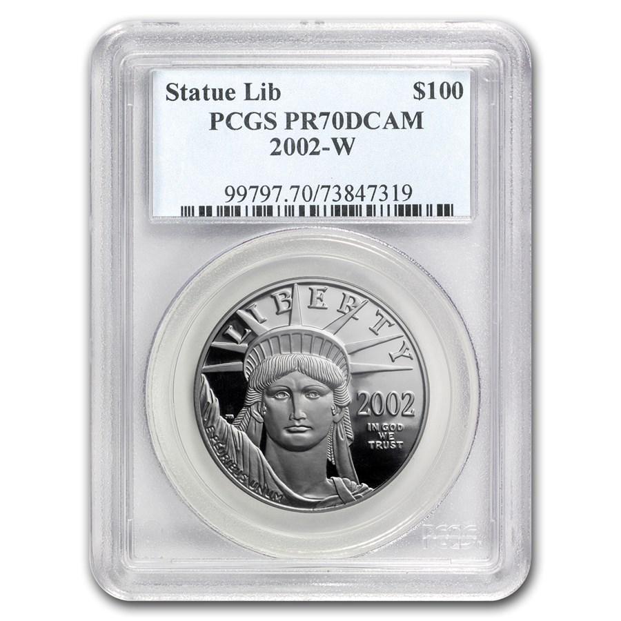2002-W 1 oz Proof American Platinum Eagle PR-70 PCGS