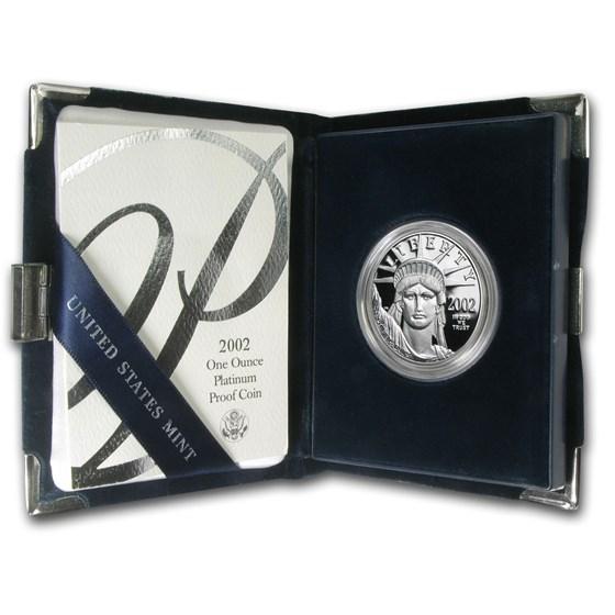 2002-W 1 oz Proof American Platinum Eagle (w/Box & COA)