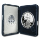 2002-W 1 oz Proof American Silver Eagle (w/Box & COA)