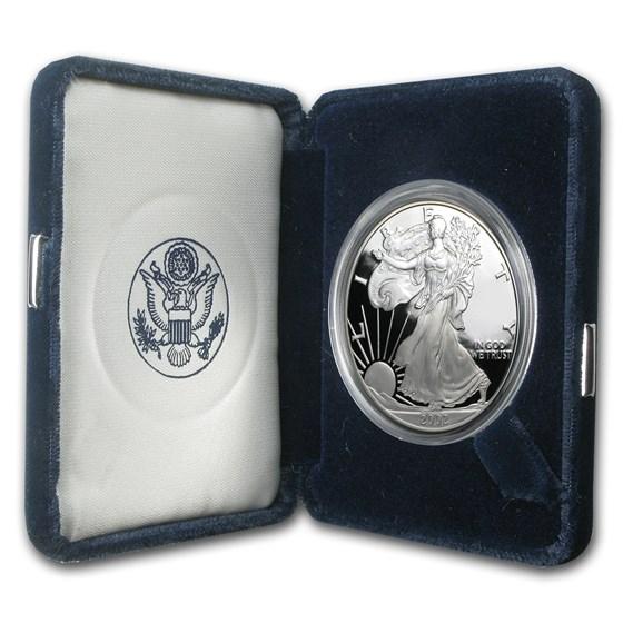 2002-W 1 oz Proof American Silver Eagle (w/Box & COA)
