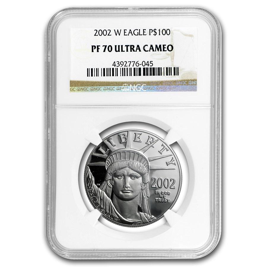2002-W 1 oz Proof Platinum American Eagle PF-70 NGC