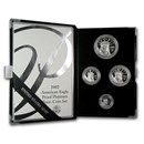 2002-W 4-Coin Proof American Platinum Eagle Set (w/Box & COA)