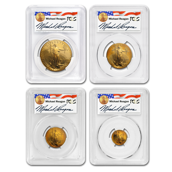 2002-W 4-Coin Proof Gold American Eagle Set PR-70 PCGS