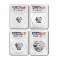 2002-W 4-Coin Proof Platinum Eagle Set PR-70 PCGS (Reagan Signed)