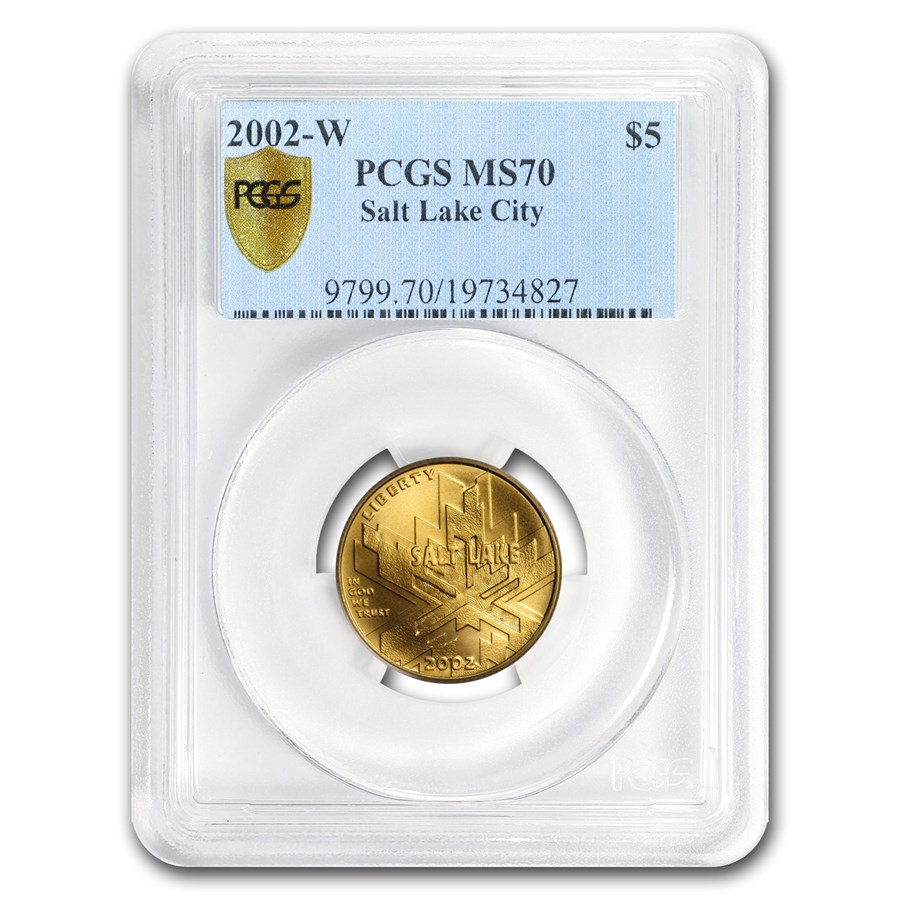 2002-W Gold $5 Commem Olympic Winter Games MS-70 PCGS