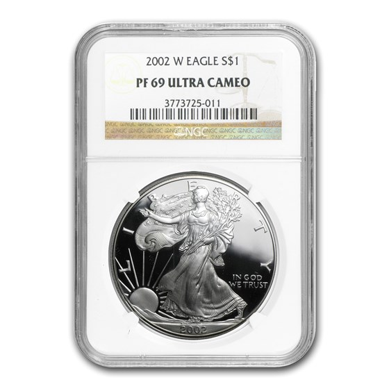 2002-W Proof American Silver Eagle PF-69 NGC